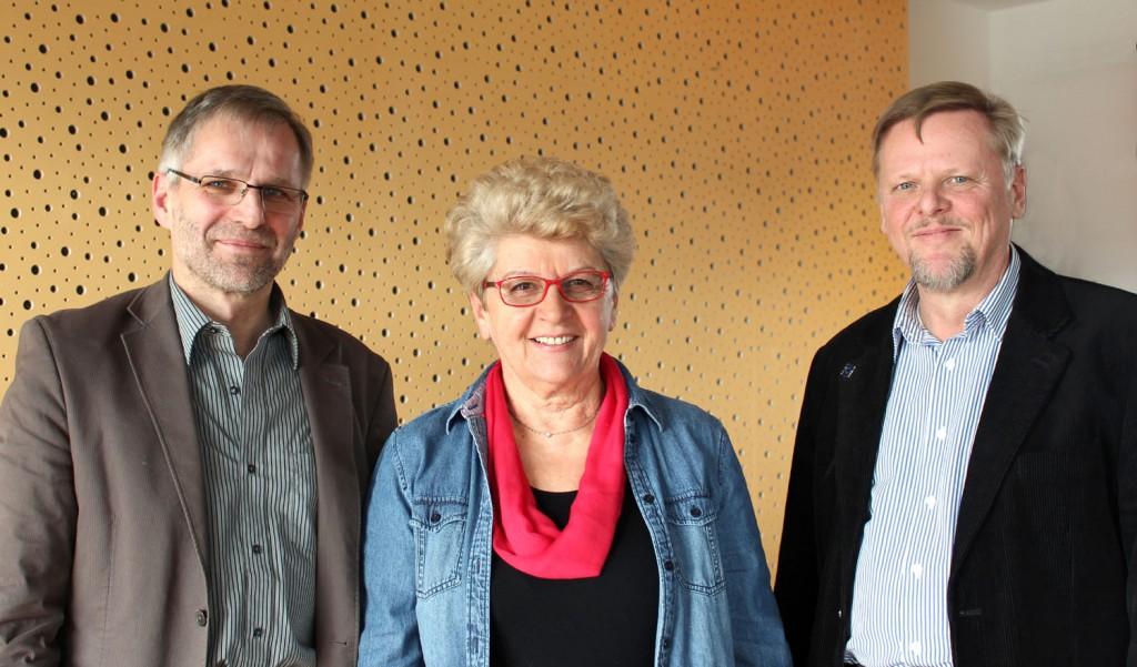 Die ersten drei Kandidaten: Wolf-Dieter Winkler, Gerlinde Schrempp, Ulrich Glaubitz (von links)