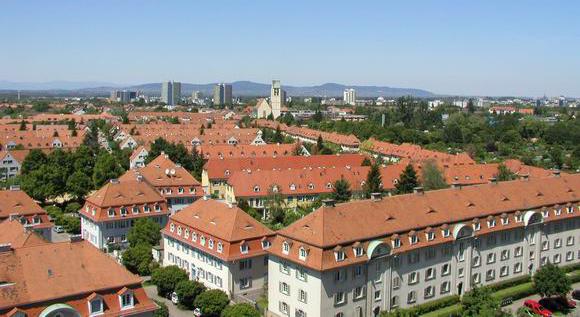 Unter Denkmalschutz: Die Gartenstadt in Freiburg Haslach.