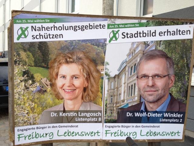 Sowie: Dr. Kerstin Langosch (Listenplatz 8) und Dr. Wolf-Dieter Winkler (Listenplatz 2)