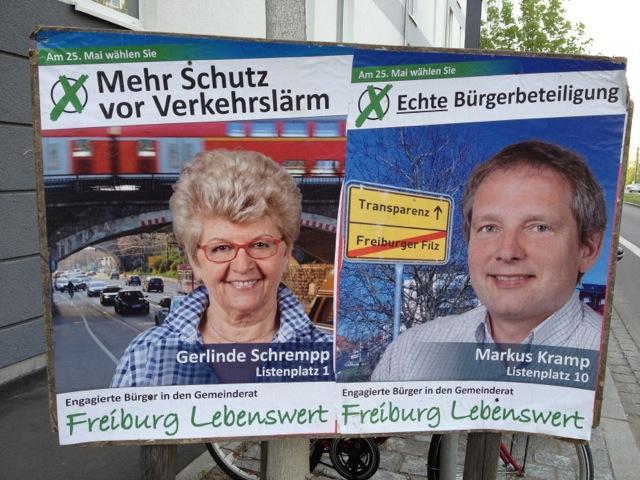 Unsere Kandidaten Gerlinde Schrempp (Listenplatz 1) und Markus Kramp (Listenplatz 10).