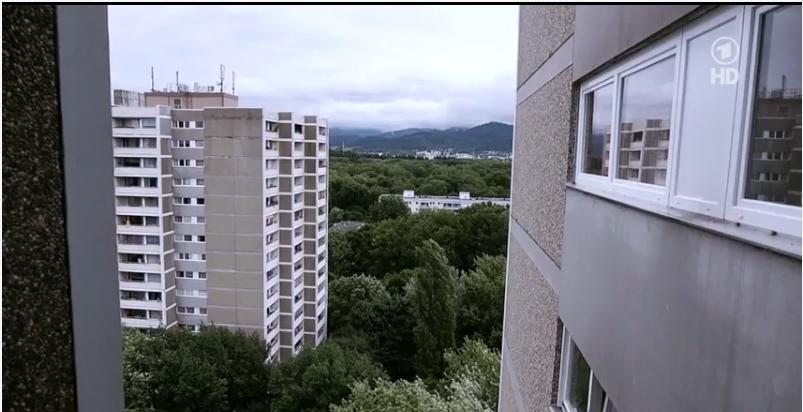 Wohnblocks von Black Rock in der Auwaldsiedlung in Freiburg-