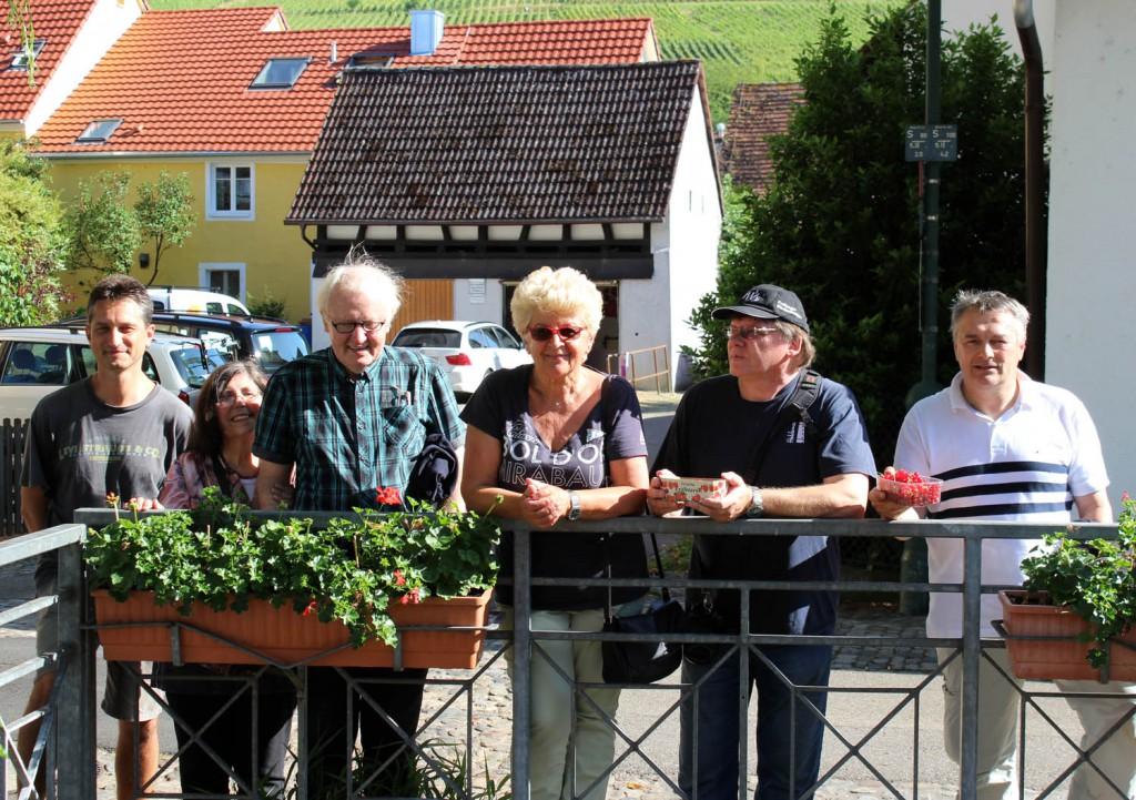Stadtteil-Begehung am 14.06.2015 in Sankt Georgen unter Führung von Dr. Wolfgang Deppert.