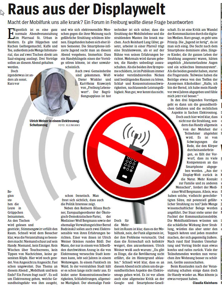 Elektrosmog-Wochenbericht
