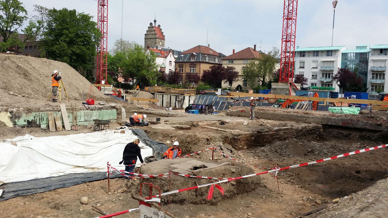 Bauplatz auf dem Areal des Heilig-Geist-Stifts im Stadtteil Neuburg.