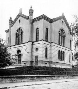 Die 1938 zerstörte Synagoge von Freiburg (Foto: Unbekannt - www.jgm-net.de)