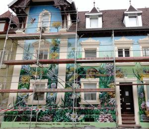 Das bemalte Haus in der Kirchstraße (Foto: Dr. W. Deppert)
