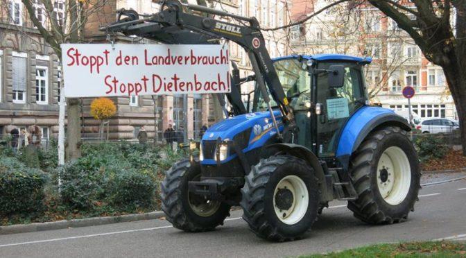 Schlepper-Demo am 16. 2. zu Dietenbach