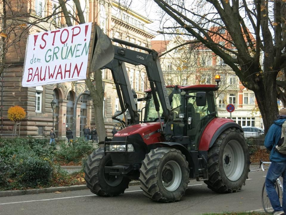 Protest gegen den Bauwahn der Grünen in Freiburg (Foto: W. Deppert)