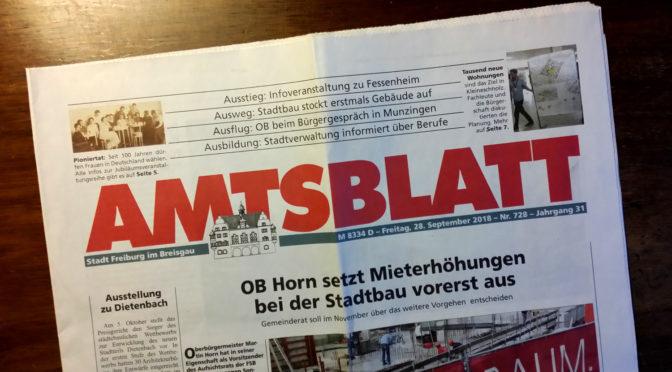 """Das Amtsblatt darf keine """"presseähnliche Wochenzeitung"""" sein"""