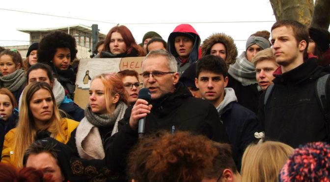Rede von Stadtrat Winkler bei Schülerdemo